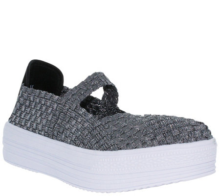 Heal Platform Slip-On Mary Jane Sneakers - French