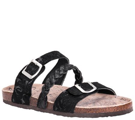 Muk Luks Slide Sandals Bonnie