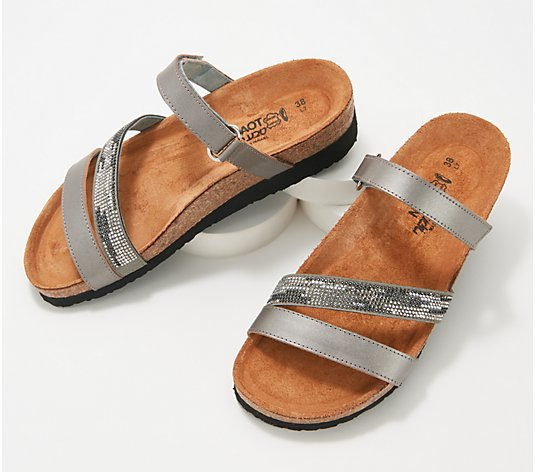 Naot Leather Multi-Strap Slide Sandals- Columbus