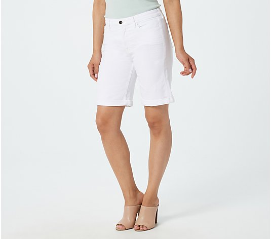 Jen7 by 7 for All Mankind Bermuda Shorts - White