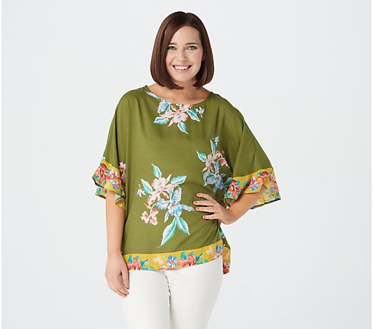 Tolani Collection Scoop Neckline Ruffle Sleeves