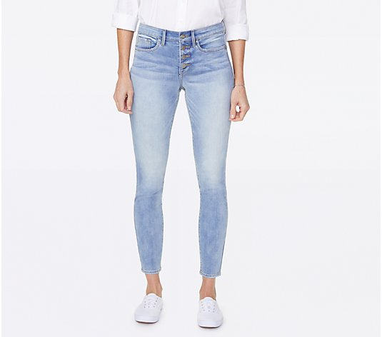 NYDJ Ami Ankle Exposed Button Fly Jeans - Biscayne
