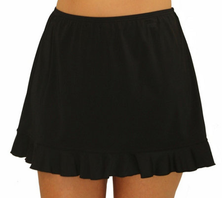 Fit 4 Ur Hips Solid Skirt with Flounce - Plus