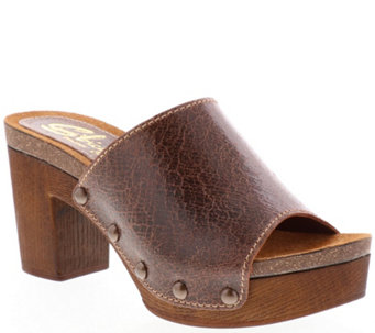 a9397c8125d Sbicca Leather Slide Mule Sandals - Arianne - A414214