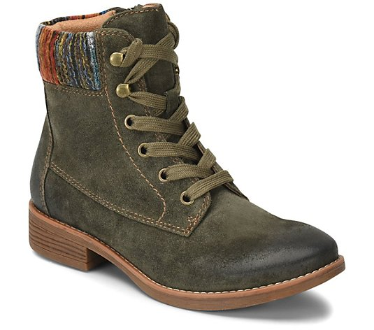 Comfortiva All Weather Lace-Up Leather Boots -Trenton