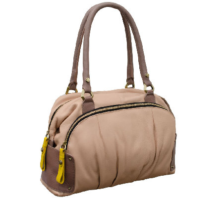 """As Is"" orYANY Tina Soft Pebbled Leather Satchel"