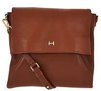 H by Halston Lizard Embossed and Smooth Leather Crossbody Bag - A276515