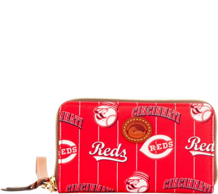 Dooney & Bourke MLB Nylon Reds Zip Around Phone Wristlet