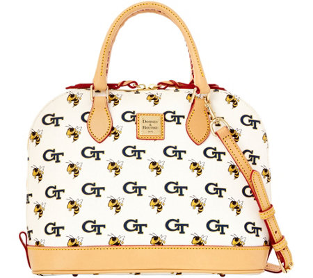 Dooney & Bourke NCAA Georgia Tech University Zip Zip Satchel