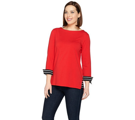 Susan Graver Weekend Stretch Cotton Modal Pullover