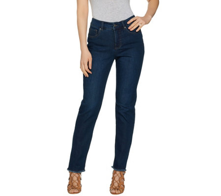 Women with Control Regular My Wonder Denim Frayed Ankle Jeans