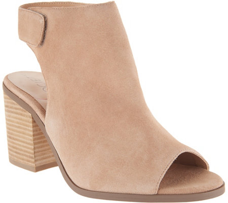 Sole Society Suede Peep-Toe Ankle Booties - Jagger