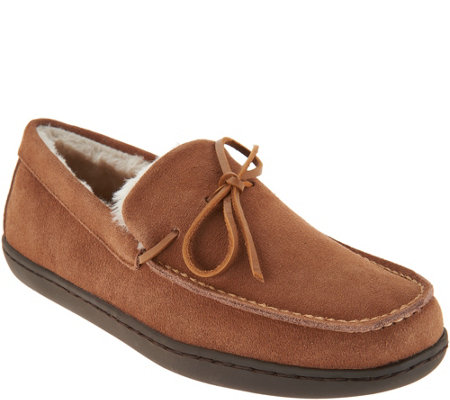 Vionic Orthotic Men's Suede Slippers - Adler