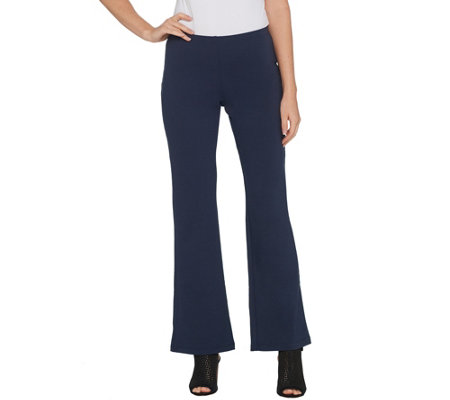 Women with Control Petite Soft Tech Pull-On Low Bell Pants