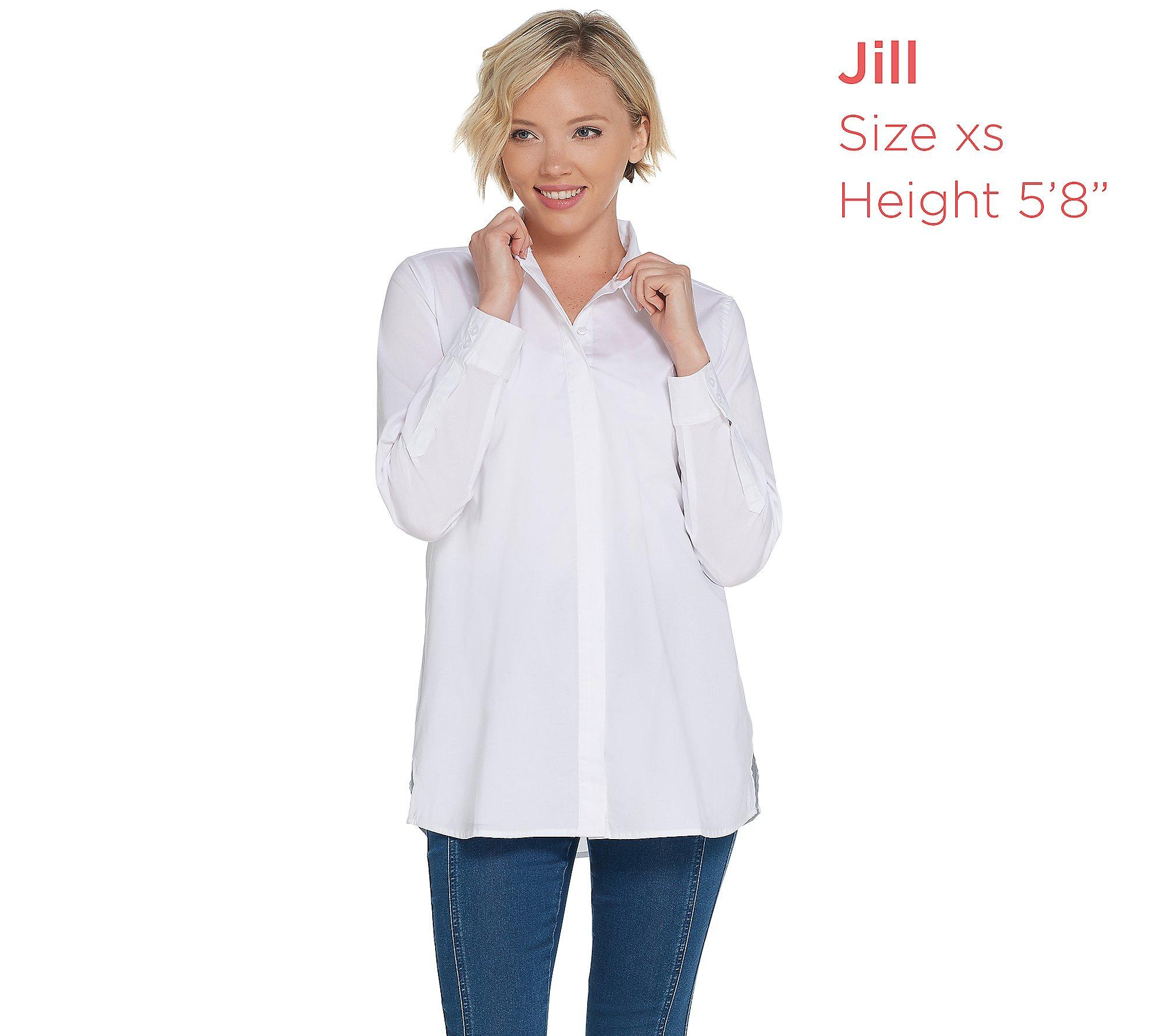 Martha Stewart Stretch Poplin Blouse 3//4 Tie Slvs Optic White XL NEW A307689