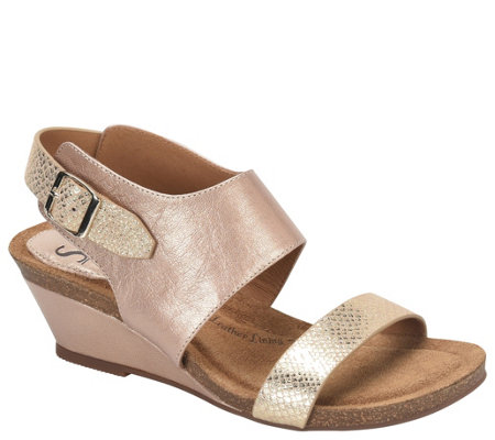 Sofft Leather Wedge Sandals - Vanita