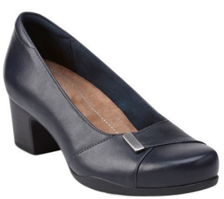 f0ced00eca3bc Clarks Artisan Slip-on Leather Pumps - RosalynBelle - Page 1 — QVC.com