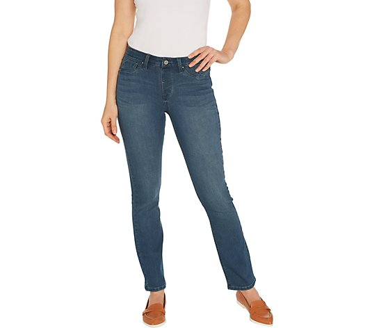 Laurie Felt Silky Denim Straight Leg Pull-On Jeans