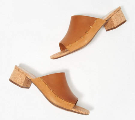 Clarks Collection Leather Heeled Slide Sandals Elisa Abby
