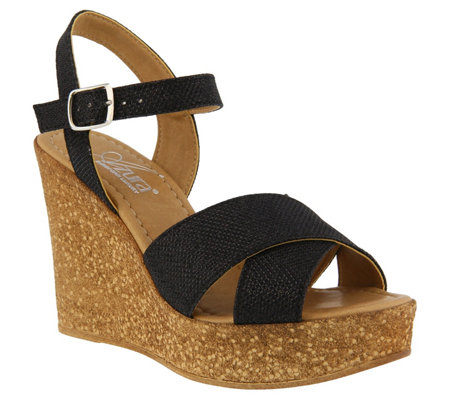 Azura by Spring Step Wedge Sandals - Ronda