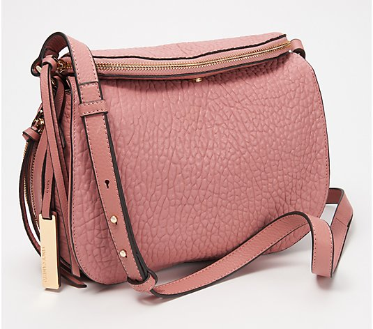 Vince Camuto Large Lamb Leather Crossbody Bag - Ida