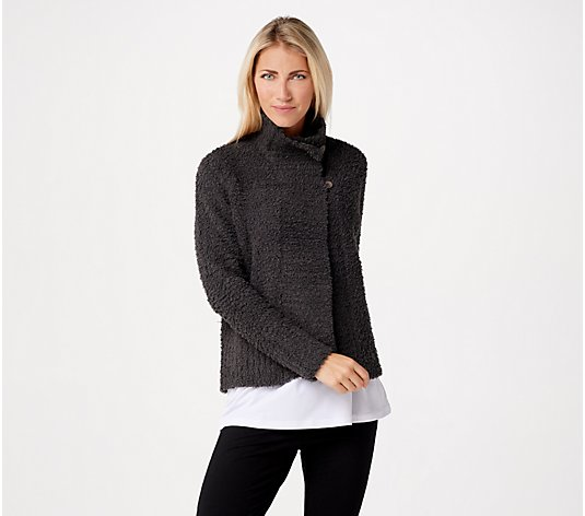 Barefoot Dreams CozyChic Funnel Neck Cardi