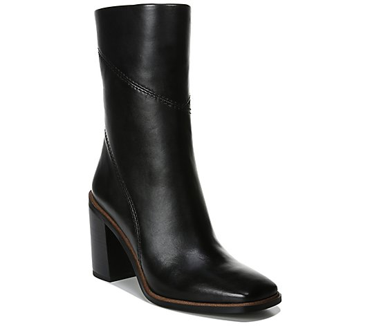 Franco Sarto Zipper Mid Shaft Boots - Stevie