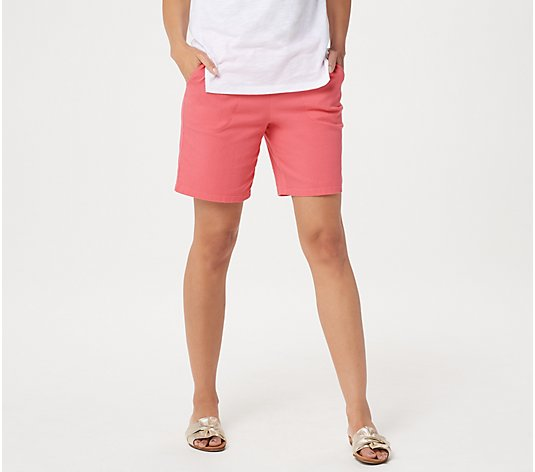 "Denim & Co. ""How Timeless"" Stretch Two Pocket Shorts"