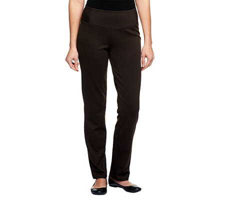 Women with Control Petite Fit Ponte di Roma Knit Pants