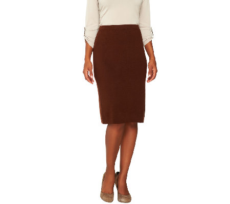 Joan Rivers Wardrobe Builders Sweater Knit Pull-On Skirt