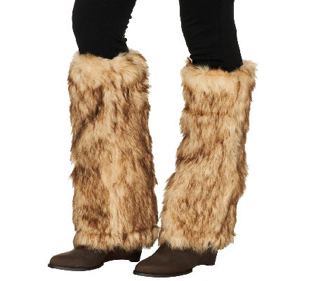 Dennis Basso Faux Fur Boot Warmers