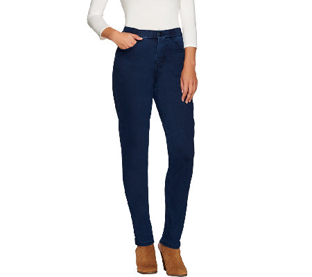 "Denim & Co. ""How Modern"" Petite Denim Slim Leg Jeans"