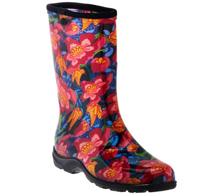 Sloggers Butterfly Floral Garden Boots With Comfort Insoles