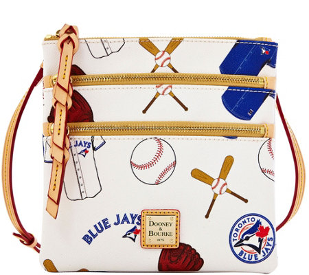 Dooney & Bourke MLB Blue Jays Triple Zip Crossbody