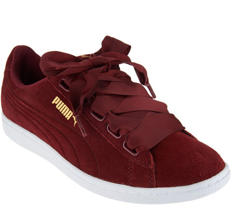 8b43baff77ac PUMA Suede Lace-up Sneakers - Vikky Ribbon - Page 1 — QVC.com
