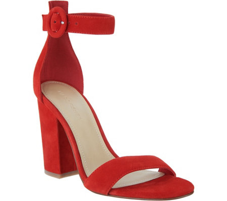 Marc Fisher Leather or Suede Sandals w/ Ankle Strap - Magali