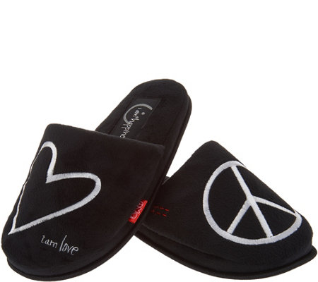 Peace Love World Signature Slippers