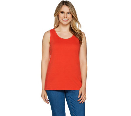 """As Is"" Isaac Mizrahi Live! Essentials Scoop Neck Tank Top"