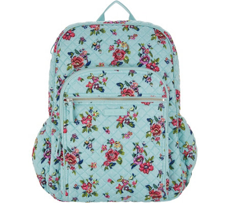 120976ce04f Vera Bradley Iconic Signature Campus Backpack - Page 1 — QVC.com
