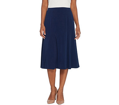 Every Day by Susan Graver Liquid Knit Skirt with Godets - A310116