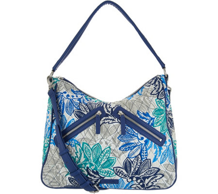 """As Is"" Vera Bradley Signature Vivian Zip Top Hobo Handbag"