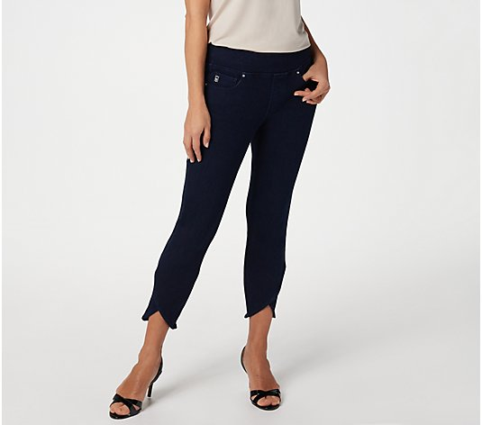 Belle by Kim Gravel Flexibelle Tulip-Hem Cropped Jegging