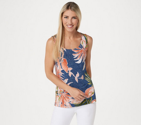 Attitudes by Renee Como Jersey Renee's Reversibles Sleeveless Top