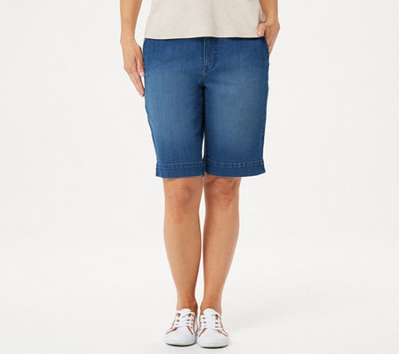 Isaac Mizrahi Live! Regular TRUE DENIM Bermuda Shorts