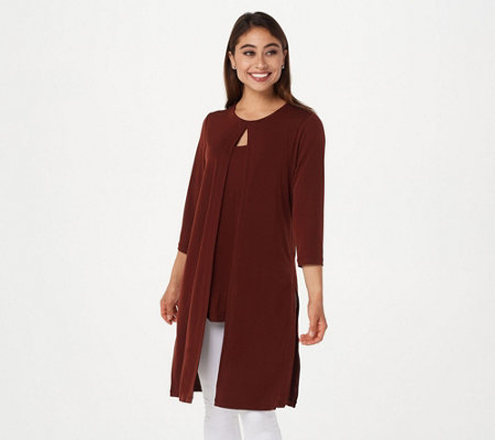 Every Day by Susan Graver Petite Liquid Knit Tunic