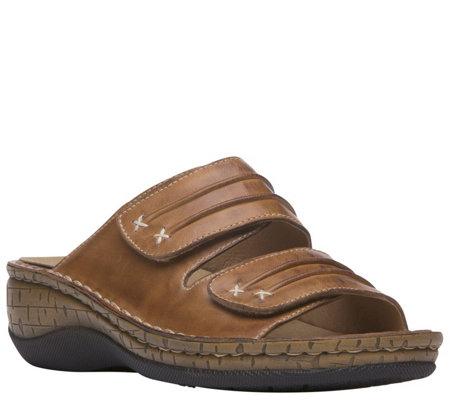 Propet Leather Slide Sandals June