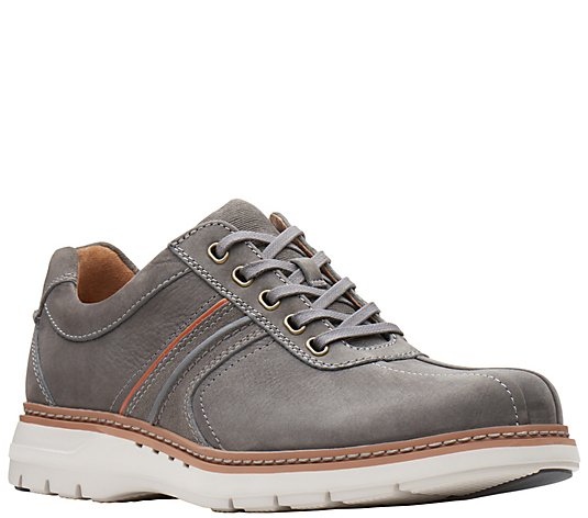 Clarks Men's Leather Lace-Up Shoes - Un RambleGo