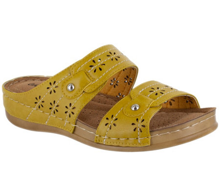 Easy Street Slip-On Comfort Slip-On Sandals - Cash