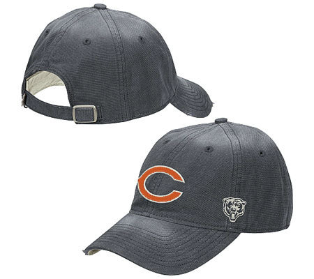 NFL Chicago Bears Old Orchard Beach AdjustableSlouch Hat — QVC.com a6ca8e8fa9d
