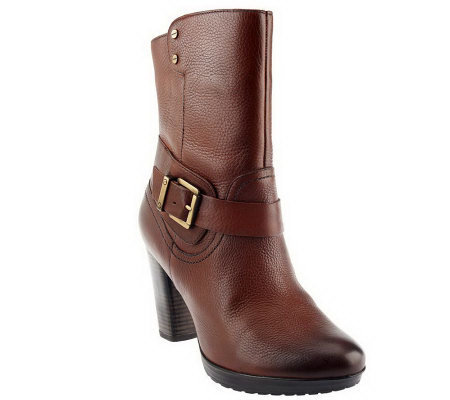 Clarks Artisan Leather High Heel Mid Shaft Boots - Lida Sayer